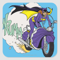 vintage, retro, batgirl cycle, batman, bat man, 1966 batman, 60's batman, batman action callout, action words, fighting sound effect words, punching sounds, lee meriwether, adam west, burt ward, batman tv show, batman cartoon graphics, super hero, classic tv show, Sticker with custom graphic design