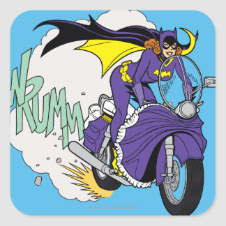 Batgirl Cycle Square Sticker