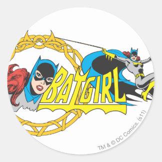 Batgirl Display Classic Round Sticker