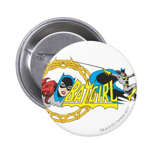 Batgirl Display Pinback Buttons