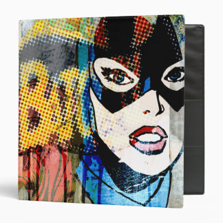 Batgirl Head 3 Ring Binder
