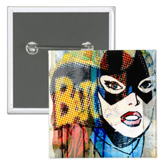 Batgirl Head Button