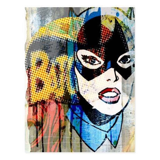 Batgirl Head Postcard