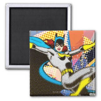 Batgirl Mid-Air 2 Inch Square Magnet