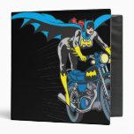 Batgirl on Batcycle 3 Ring Binder