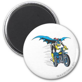 Batgirl on Batcycle Magnet