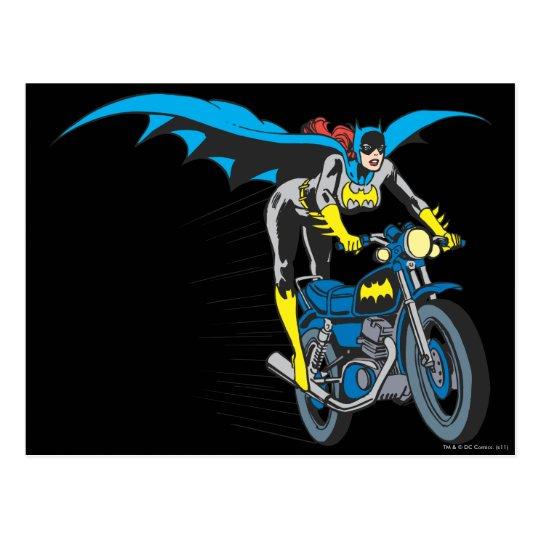 Batgirl on Batcycle Postcard
