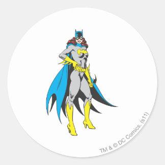 Batgirl Poses Classic Round Sticker