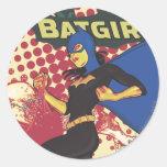 Batgirl Round Stickers