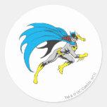 Batgirl Runs Round Sticker