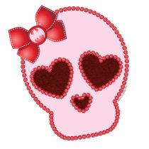 batgirl, bat girl, pink skull, skull and roses, red bow, hair bow, bat symbol, girly, cute, pink, dc comics, day of the dead, dia de los muertos, Photo Sculpture with custom graphic design