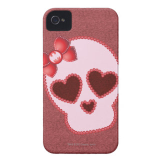 Batgirl Skull With Bow iPhone 4 Case