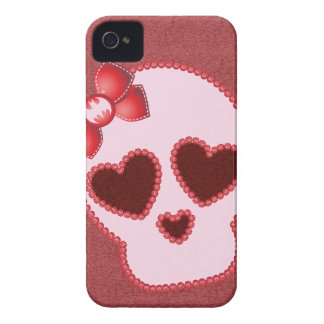 Batgirl Skull With Bow iPhone 4 Case-Mate Case