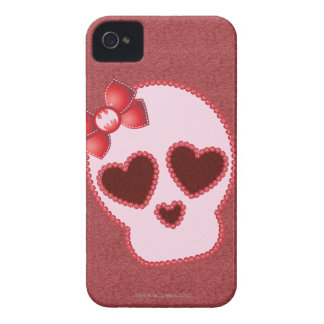 Batgirl Skull With Bow iPhone 4 Cover