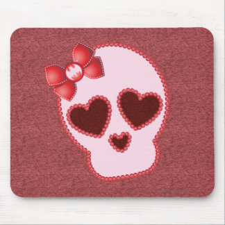 Batgirl Skull With Bow Mouse Pad