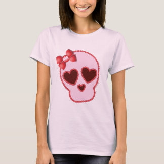 Batgirl Skull With Bow T-Shirt