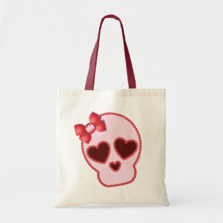 Batgirl Skull With Bow Tote Bag