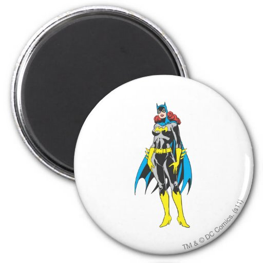 Batgirl Stands 2 Inch Round Magnet