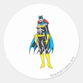 Batgirl Stands Classic Round Sticker