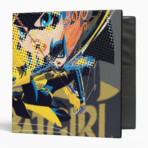 Batgirl Swinging Kick 3 Ring Binder