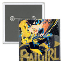batgirl, monthly trend, gotham, comic book style, art, Button with custom graphic design