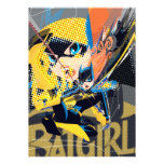 Batgirl Swinging Kick Personalized Announcements