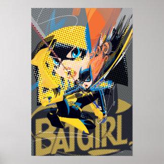 Batgirl Swinging Kick Poster