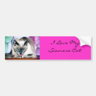 Bath 4 Harmony/I Love My Siamese Bumper Sticker