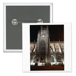 Bath Abbey at night Pinback Buttons