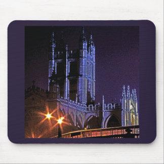 Bath Abbey at Night, Somerset, England, UK (2) Mouse Pad