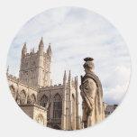 Bath Abbey Round Stickers