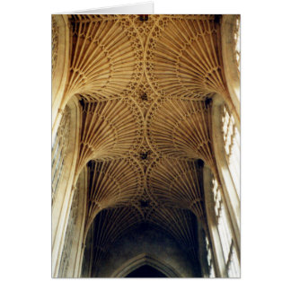 Bath Abbey, Vaulted Ceiling, England Card
