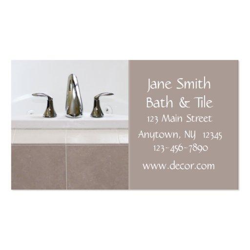 Bath and Tile Business Card