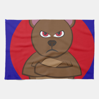Bath angry bear kitchen towels