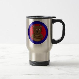 Bath angry bear 15 oz stainless steel travel mug