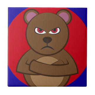 Bath angry bear tile
