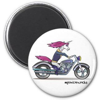 Bath ASS unicorn on motorcycle - bang-hard unicorn Magnet