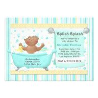 Bath Baby Shower Invitation African American
