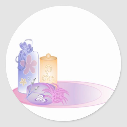 Bath beauty items 2 stickers zazzle for A bathroom item that starts with s
