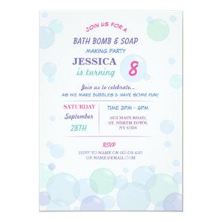 Bath Bomb Soap Making Bubble Birthday Party Invite
