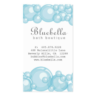 Bath Bubbles Spa Hair Salon Dog or Auto Wash Double-Sided Standard Business Cards (Pack Of 100)