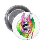bath bunny bösr hare more anstecker more sticker button