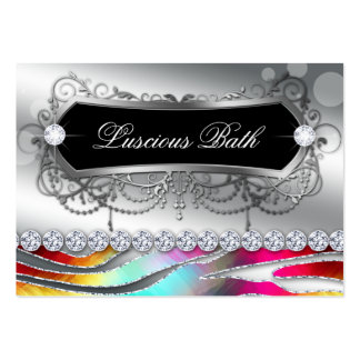 Bath Business Card Nail Salon Zebra Bold