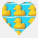 Bath Ducks Heart Sticker