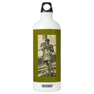 Bath England 1986 Roman Solider Statue1 snap-17612 Water Bottle