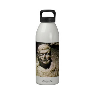 Bath England 1986 Roman Statue1a snap-17238 jGibne Reusable Water Bottle