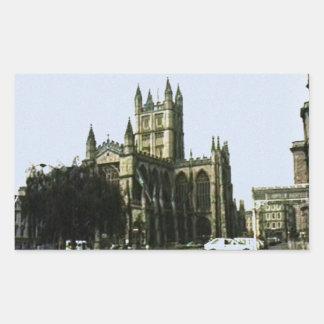 Bath England 1986 snap-11510art1 jGibney The MUSEU Rectangular Sticker