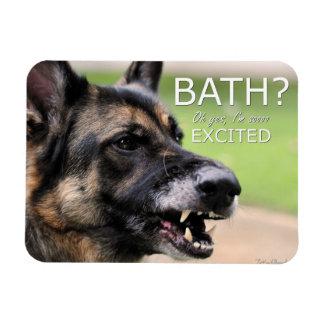 BATH:Funny German Shepherd Dog Refrigerator Magnet