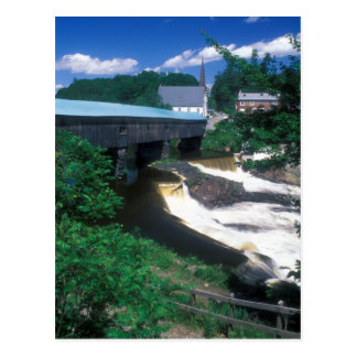 Bath Haverhill Covered Bridge New Hampshire Postcard