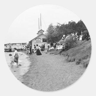 Bath House, Bois Blanc Island, MI 1903 Classic Round Sticker